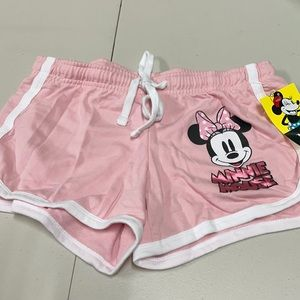 Disney teen youth shorts Minnie Mouse pink small